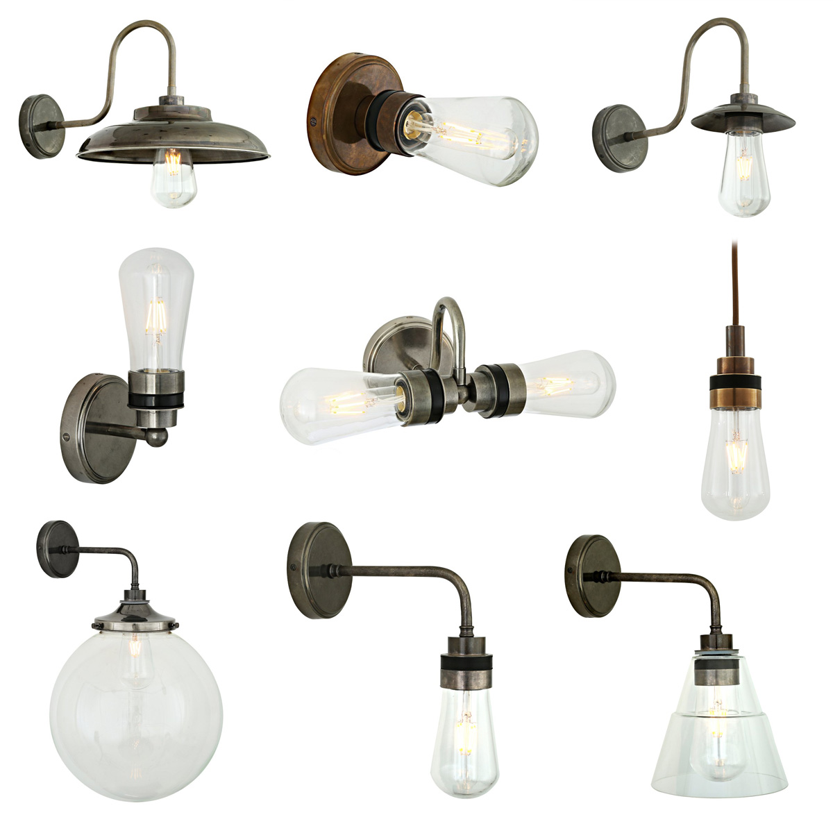 mit glaskolben einfache leuchten f r au en aus irland mit ip 54 lumi leuchten. Black Bedroom Furniture Sets. Home Design Ideas