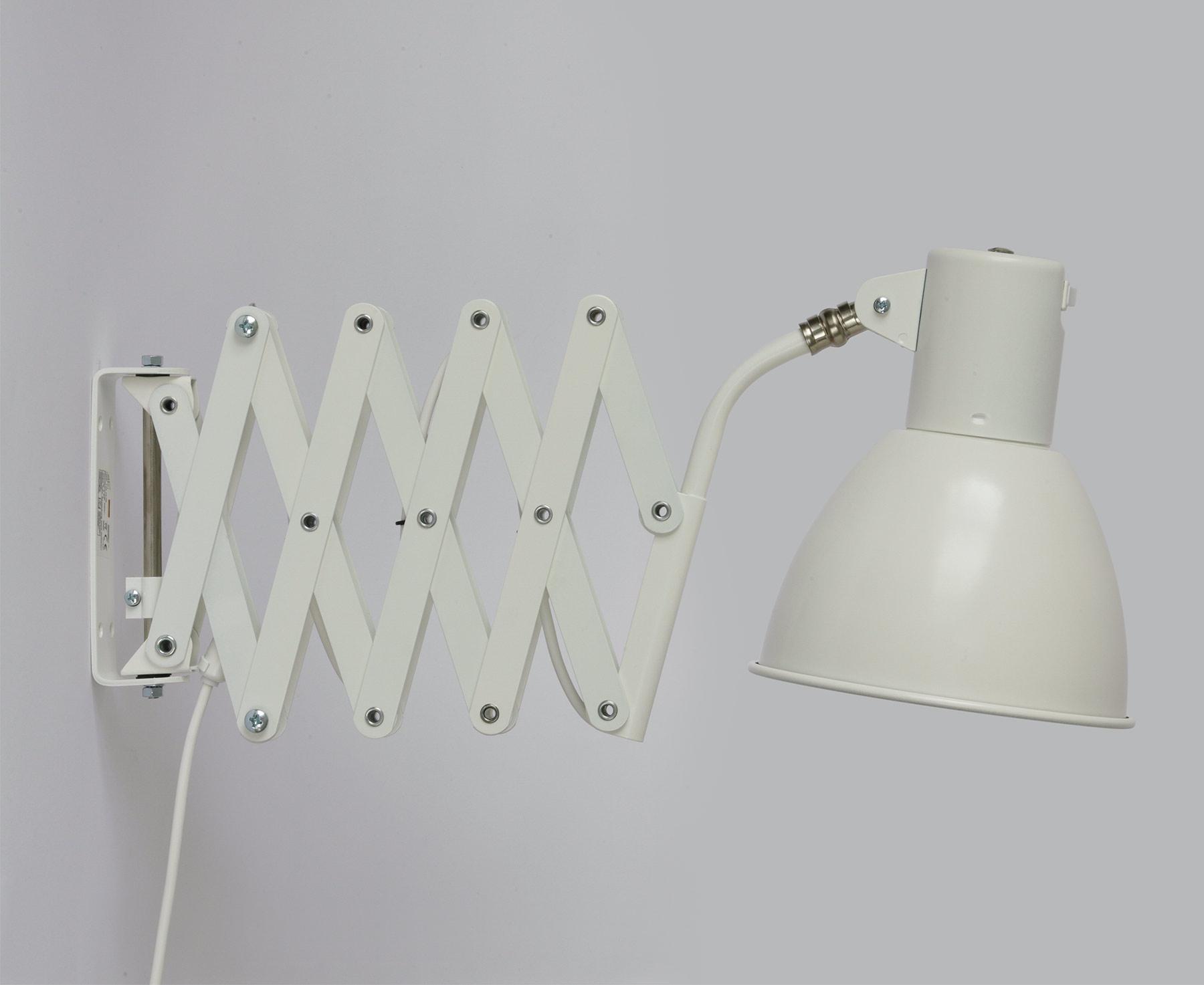 Scherelampe in weiß