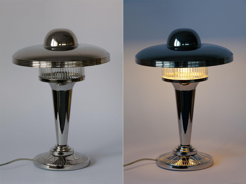Art déco-Tischleuchte im Stil der 20er Jahre