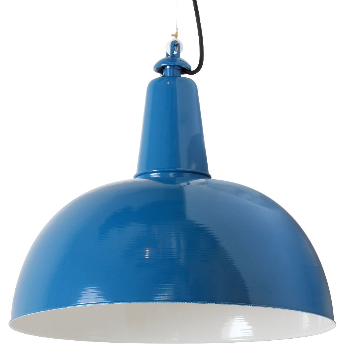 Blaue Pendelleuchte von Bolich KÖLN 50 cm in RAL 5019 Capriblau