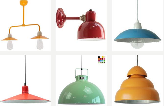 Bunte Industrie-Lampen, Farben