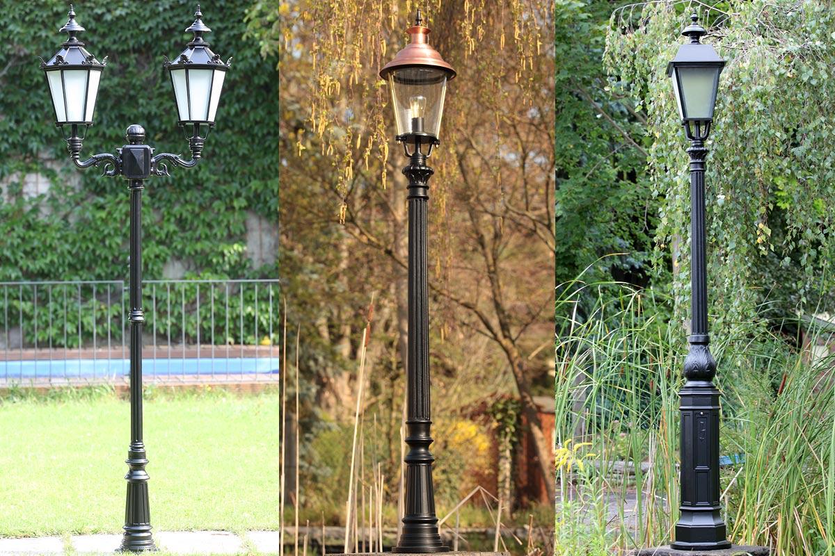 Gartenleuchten mit klassischen Säulen