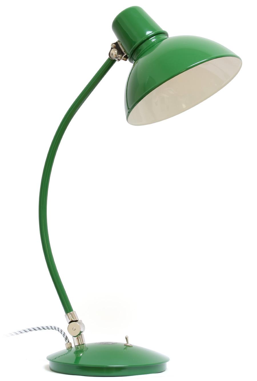 Grüne Schreibtischleuchte im Bauhaus-Stil