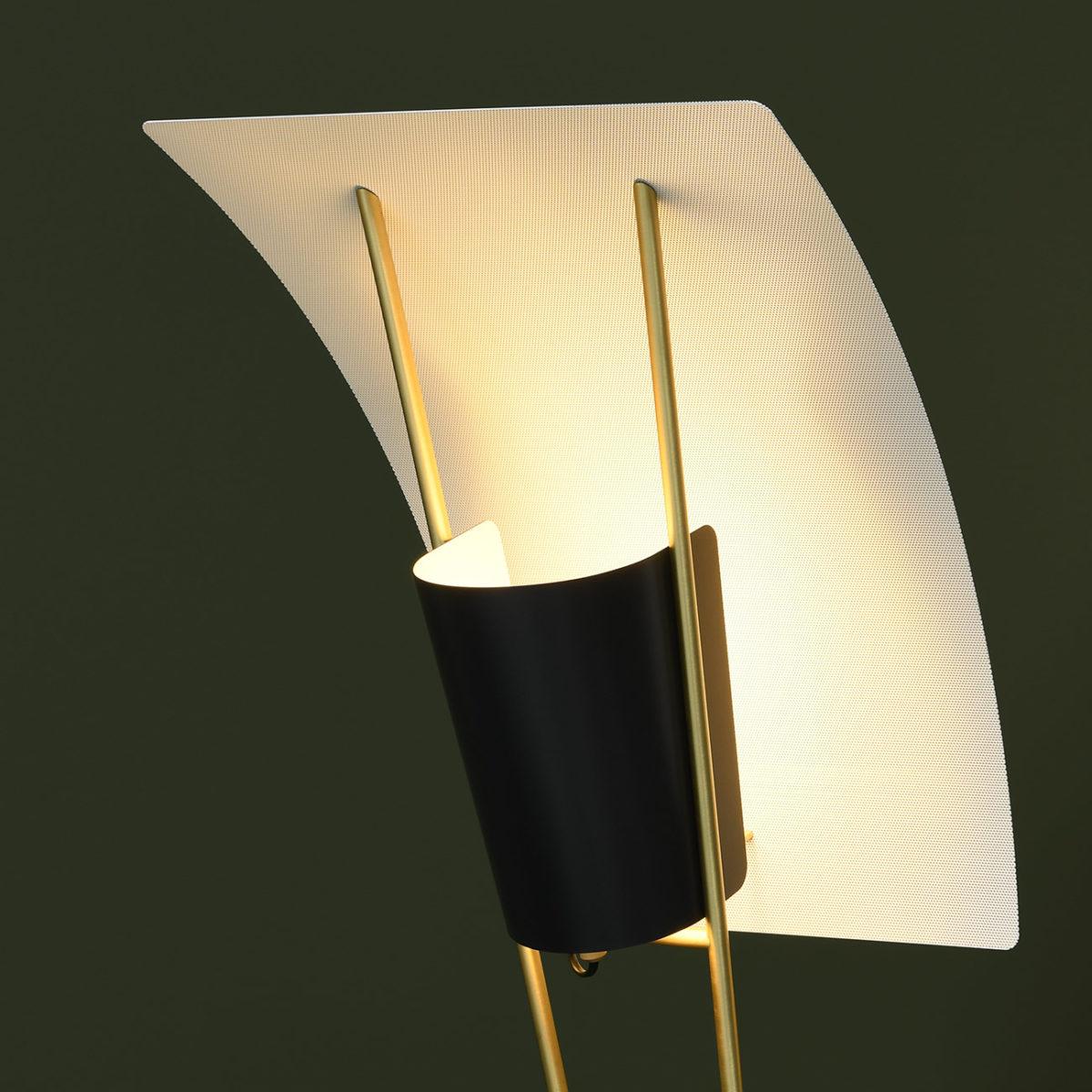 Pierre Guariche Leuchten; Stehleuchte mit Lochblech