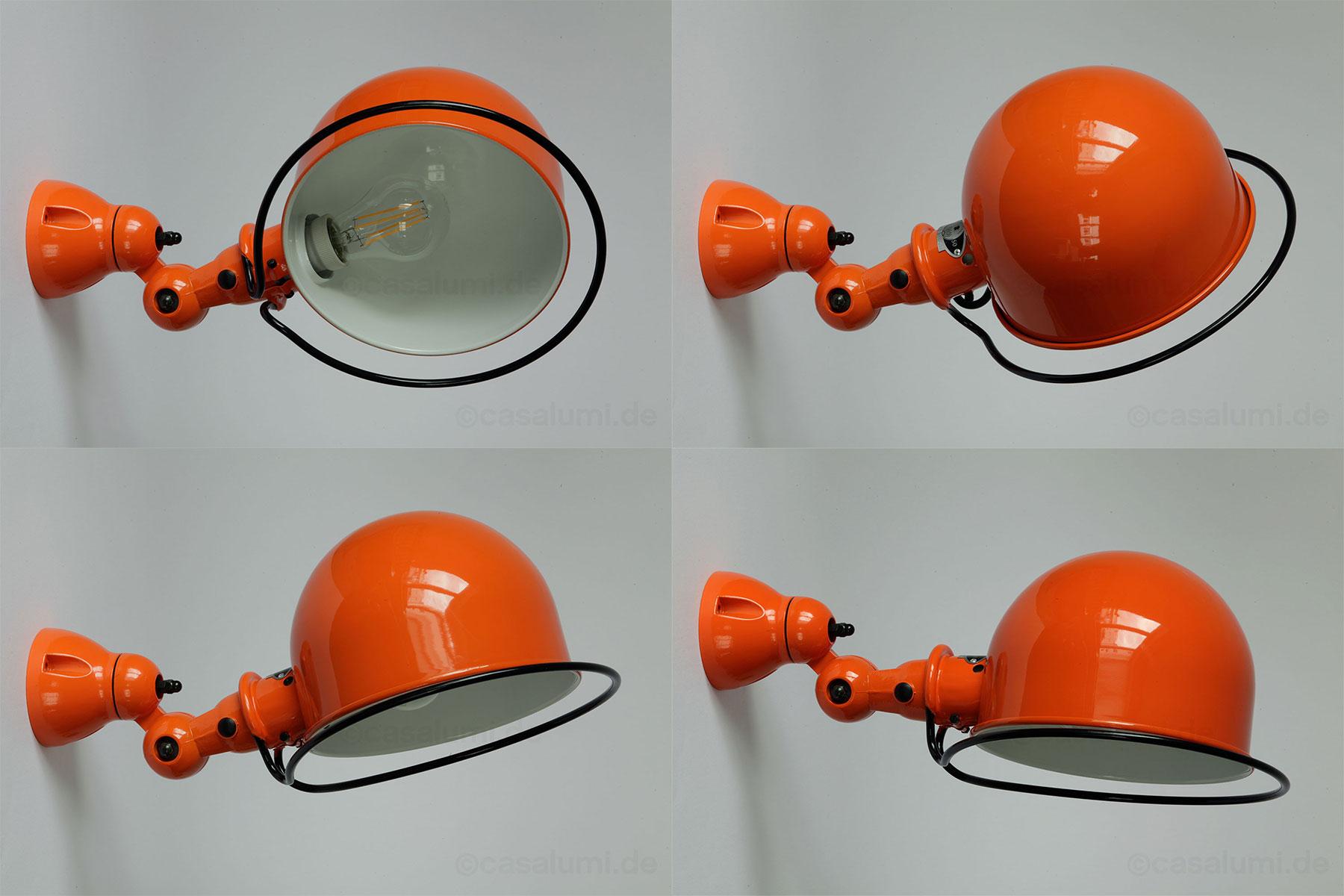 Wandleuchte D1020 von Jieldé in Orange