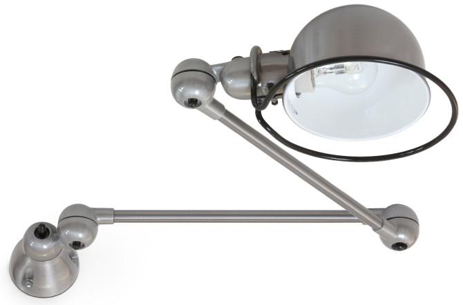 Die Gelenk-Wandlampe Jieldé LOFT D4401 in Stahl gebürstet