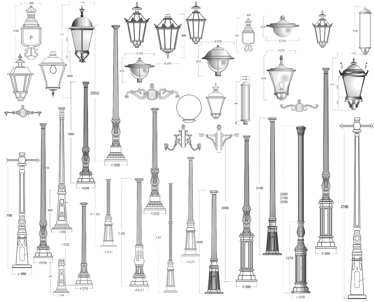 Große Auswahl an Säulen, Laternen und Kandelabern für Gartenleuchten