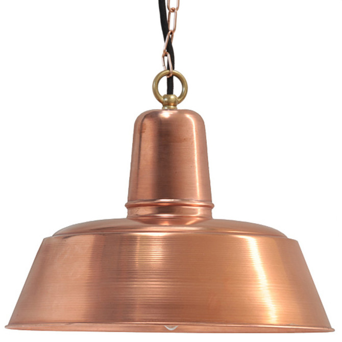 Pendelleuchte aus Kupfer, mit Kettenaufhängung
